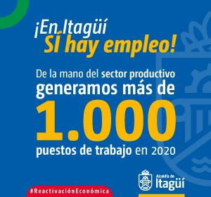 En el Municipio de Itagüí SÍ hay empleo