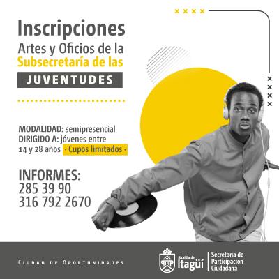 Inscripciones abiertas para artes y oficios